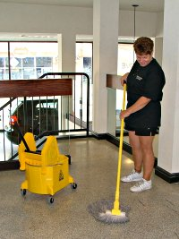 We do mopping!
